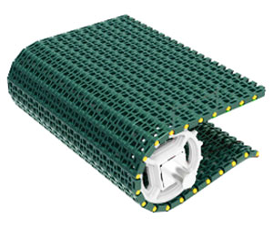 Plastic belts for conveyors