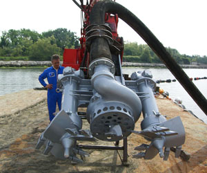 Replacement of the mechanical seal in the slurry pump