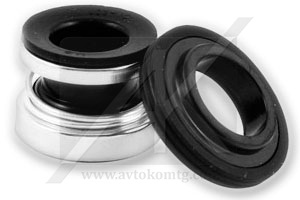 Lubrication of the rubber part of the mechanical seal