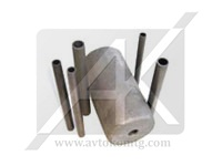 Graphite components in the continuous casting process