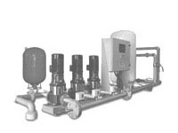 Pumping pressure boosting system