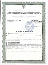 Examination certificate SEZ № 1456